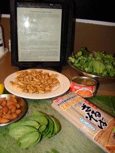Almond Soba Ingredients